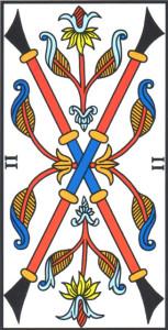 Due di Bastoni - Tarocchi di Marsiglia di Jodorowsky - Camoin
