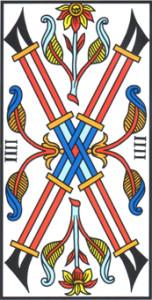 Quattro di Bastoni di Jodorowsky - Camoin